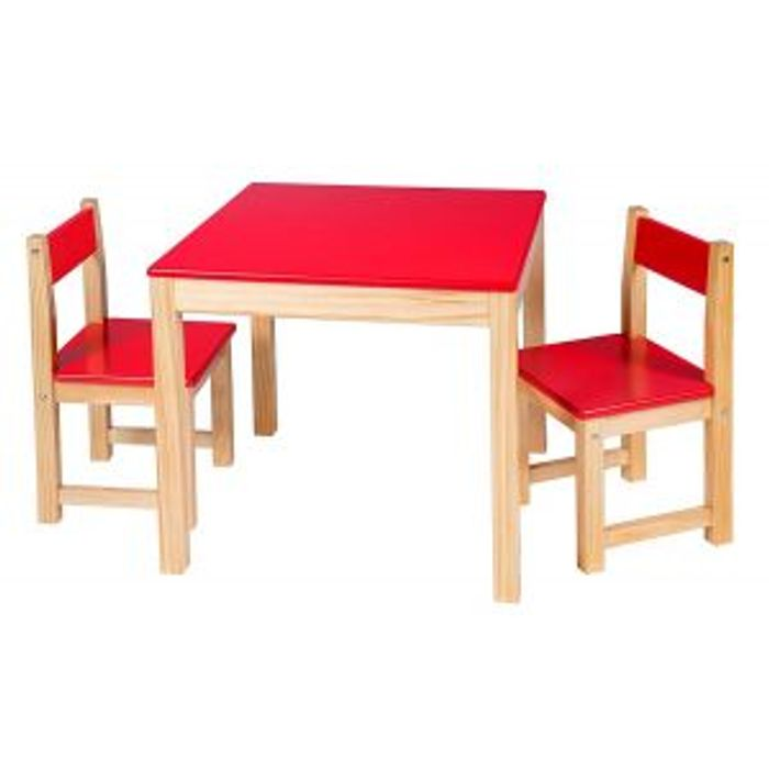 Cheap Alex Toys Table Chair Set Red Wooden Furniture, reduced by £100!