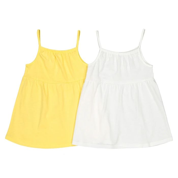 Pack of 2 Cotton Vest Tops, 3-12 Years