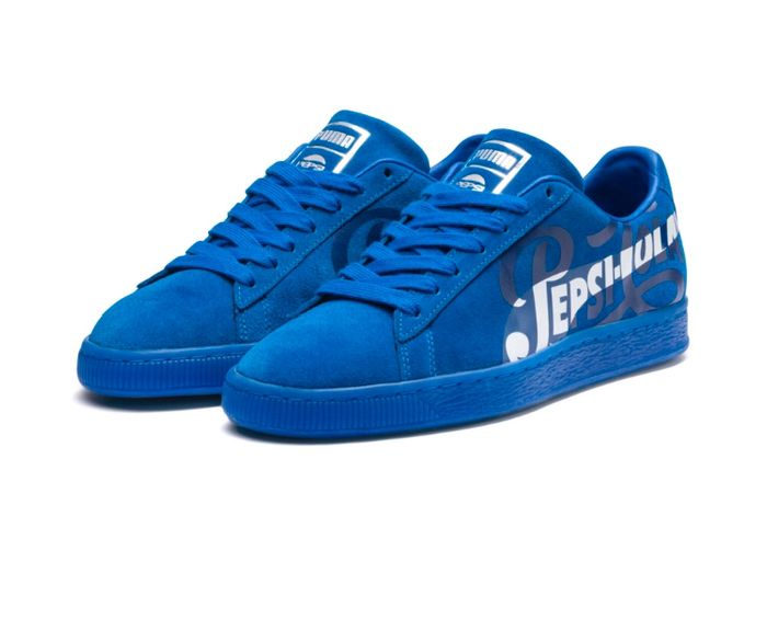 PUMA X PEPSI Suede Classic Sneakers Color Clean Blue-Puma Silver Size 4 up to 14