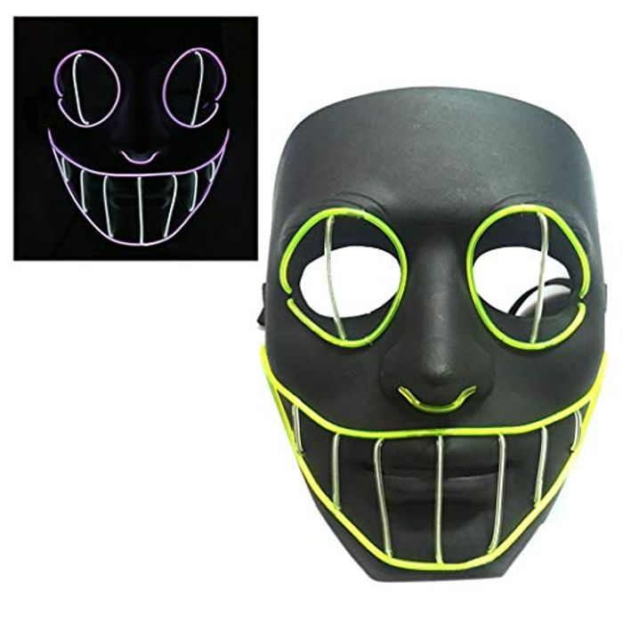 Halloween LED Light up Mask for Halloween 70% Discount