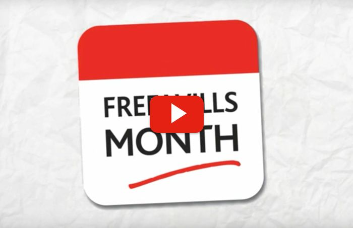 Age 55 or Over? Free Wills Month - October - Book Now