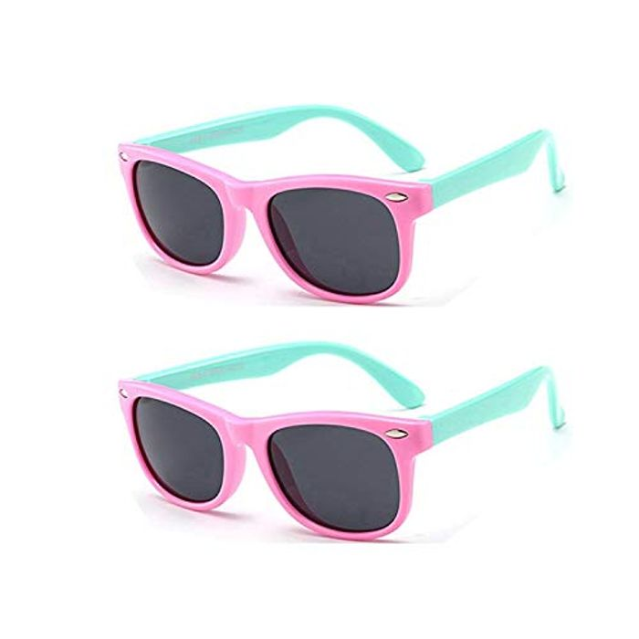 FOURCHEN Kids Polarized Sunglasses Rubber Flexible Shades for Girls Boys