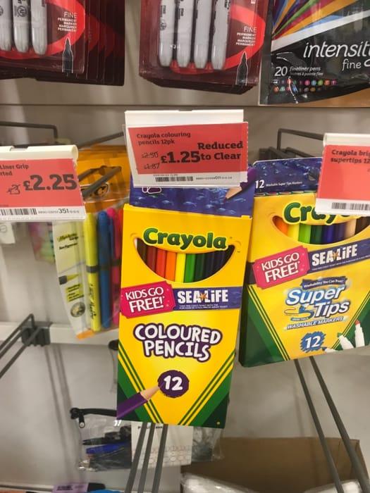 Crayola Colouring Pencils 12pk - Half Price