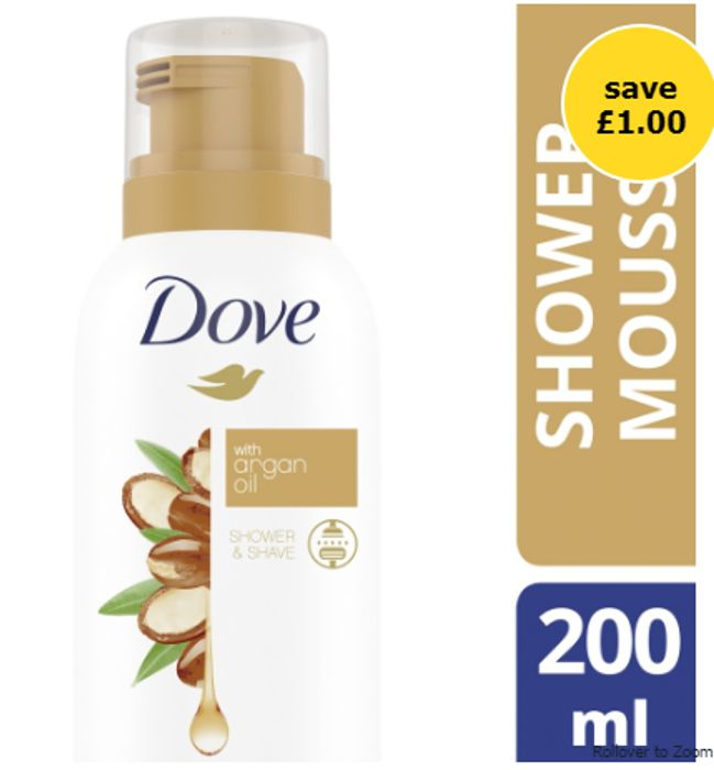 Dove with Argan Oil Shower & Shave Mousse 200ml