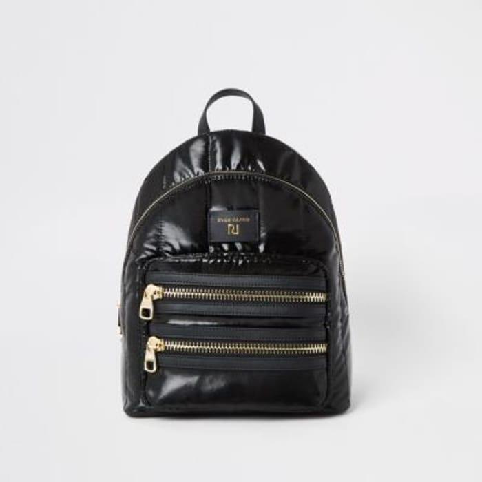 Black Padded Soft Backpack HALF PRICE