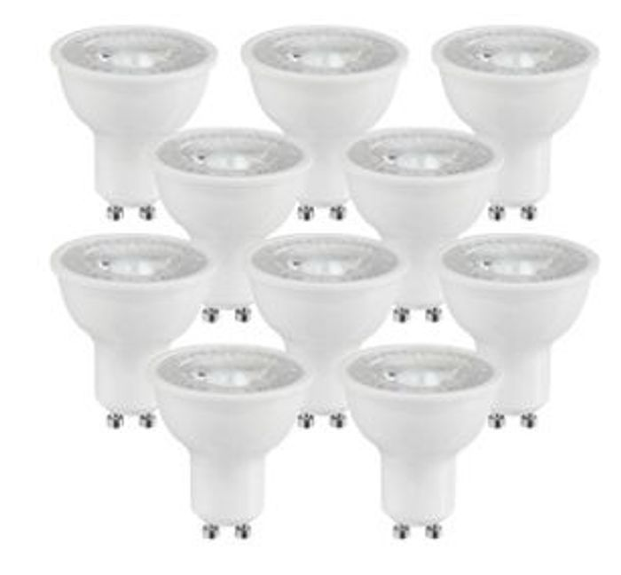 Wickes LED Light Bulb - 5W GU10 - Pack of 10 Only £5