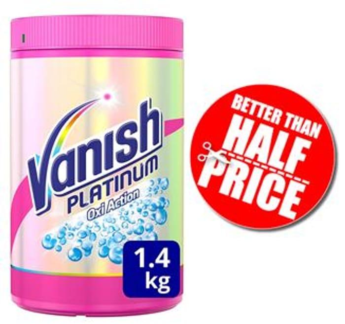 Vanish Fabric Stain Remover, Platinum Oxi Action Powder, 1.41 Kg