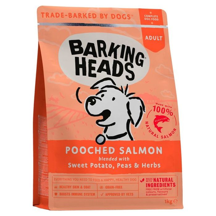 Barking Heads Dog Food Pooched Salmon Adult 1kg
