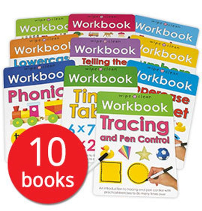 Wipe-Clean Workbook Collection - 10 Books (Collection)