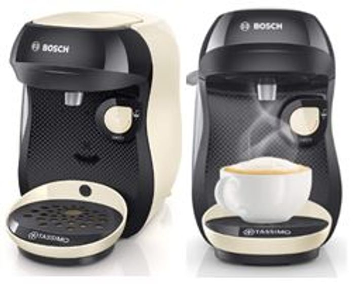 GOING CHEAP! Bosch Tassimo Happy Coffee Machine, Cream