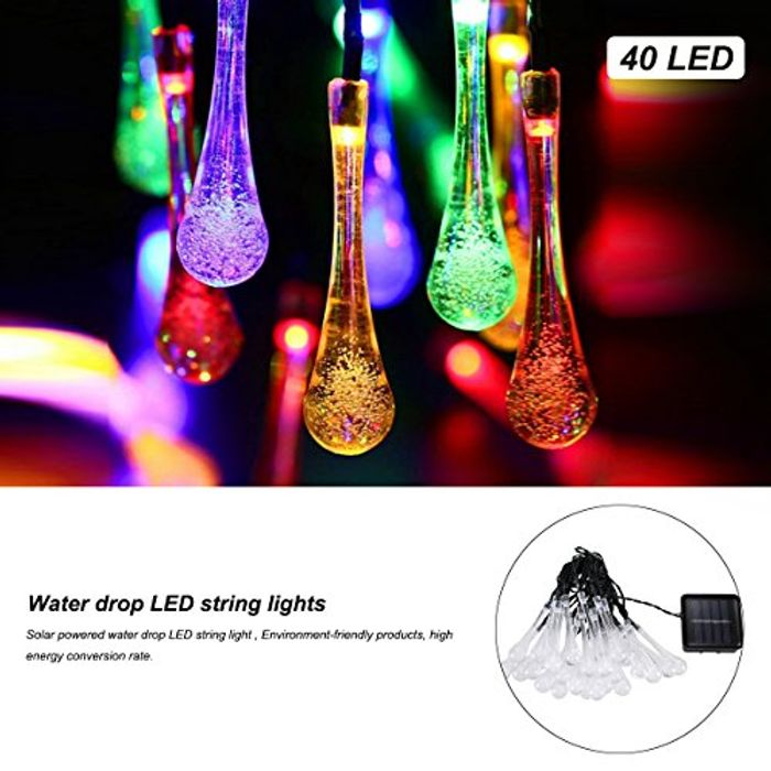 Outdoor Waterproof Solar String Fairy Lights - £4.20 from Amazon!