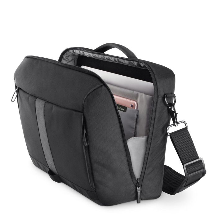 "Belkin Active Pro Commuter Messenger Bag for 15.6"" Laptop with Reflective Strip"
