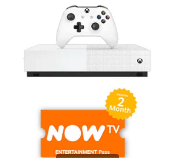 XBOX ONE S ALL DIGITAL EDITION with NOW TV Only £199.99