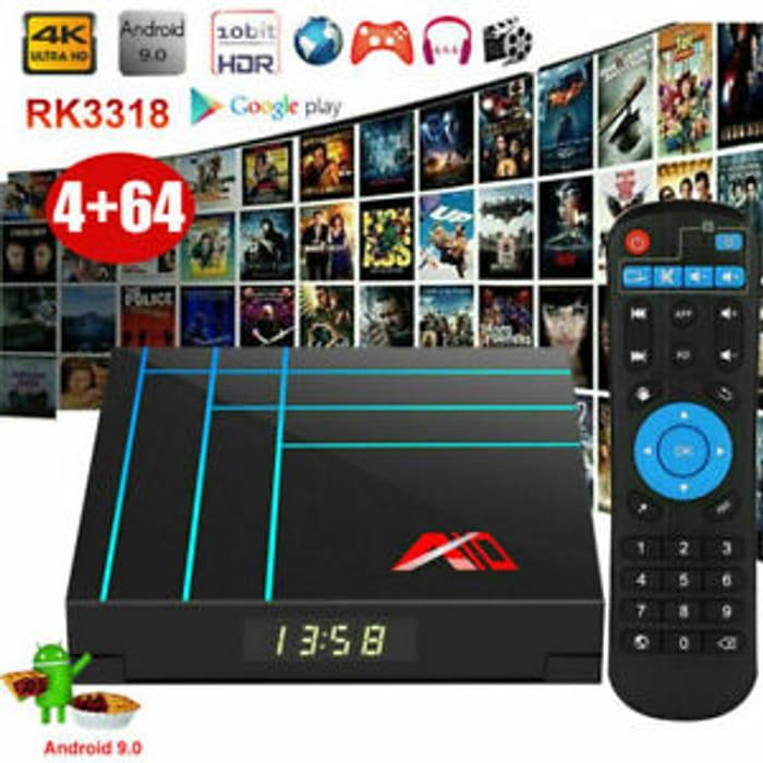 A10 Smart Android TV Box 4K Quad Core 4GB + 32GB £24 99