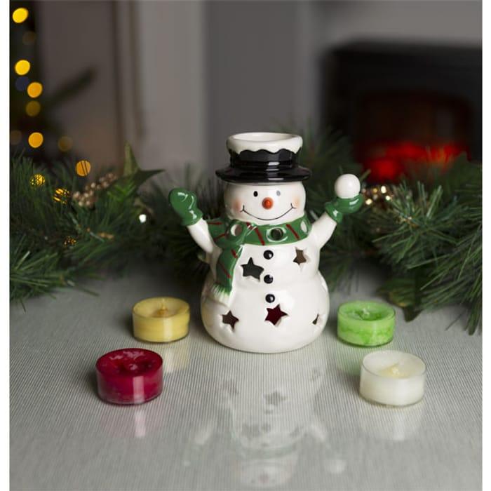 Yankee Candle Snowman Luminary Set