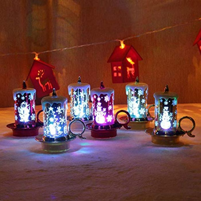 LED Christmas Candle Shape Decoration