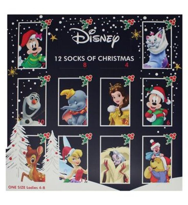 Disney Ladies Ankle Socks Advent Calendar