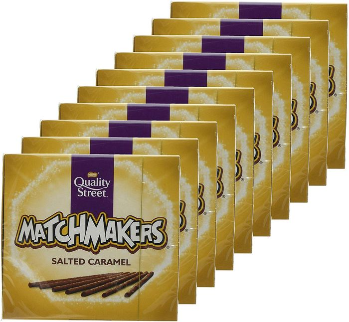 Best Ever Price! Salted Caramel Matchmakers Chocolates, 120g (Pack of 10)