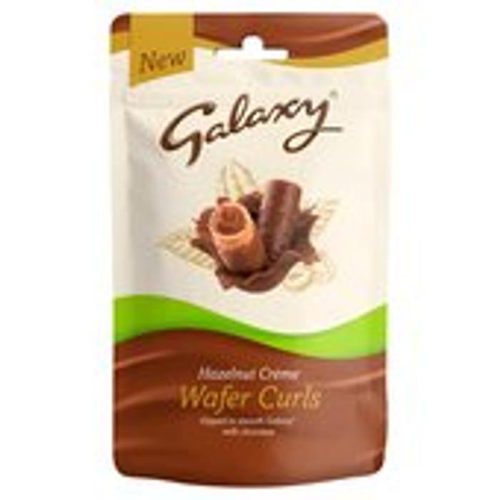 Galaxy Hazelnut Creme Wafer Curls 90g