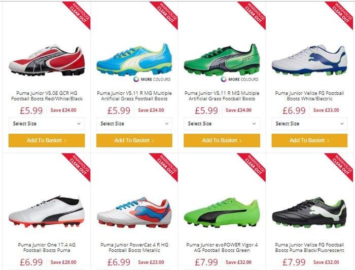 Boys Football Boots - Massive Savings
