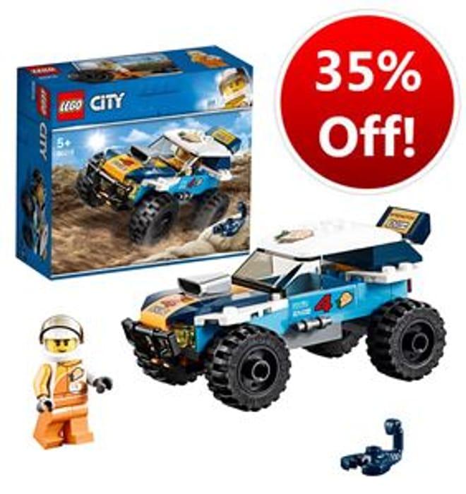 SAVE £3.49 - LEGO Desert Rally Racer (60218) AMAZON PRICE £6.50!