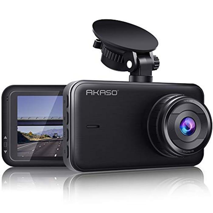 AKASO C320 Dash Cam, 1080P FHD (Use Link in Description)