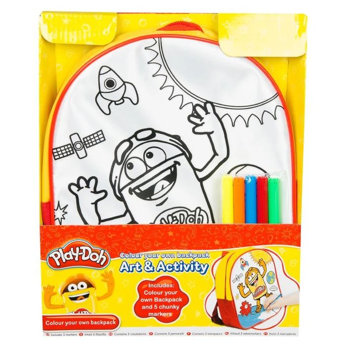 Play Doh Colour Your Own Backpack / Disney Vampirina Colour Your Own Totebag