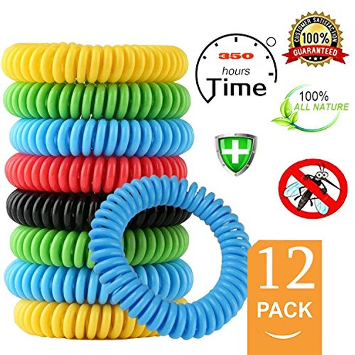 Mouttop 12 Pack Mosquito Repellent Bracelet,100% Natural FREE Delivery