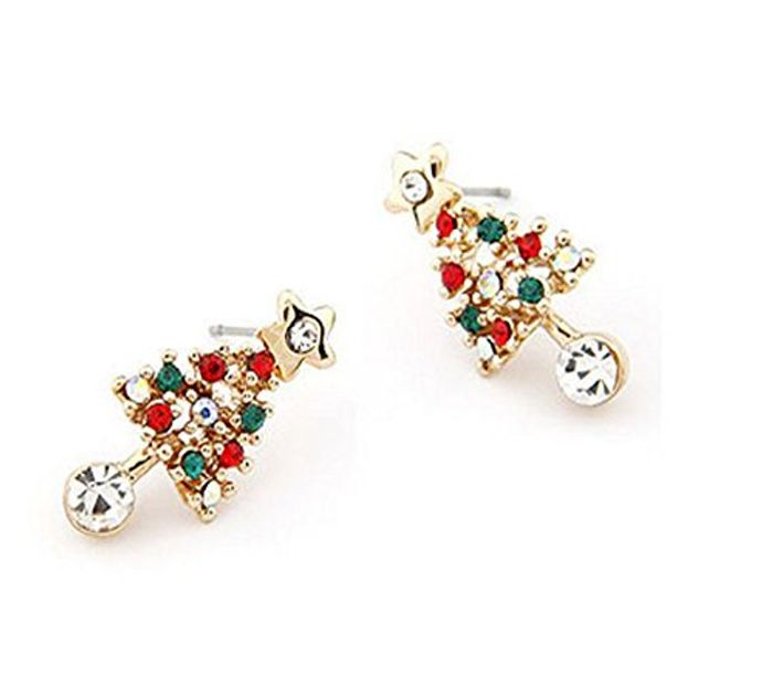 Velishy(TM) Christmas Tree Star Crystal Earrings Only £0.49 Delivered