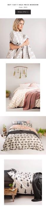 Buy 1 Get 1 Half Price Bedroom