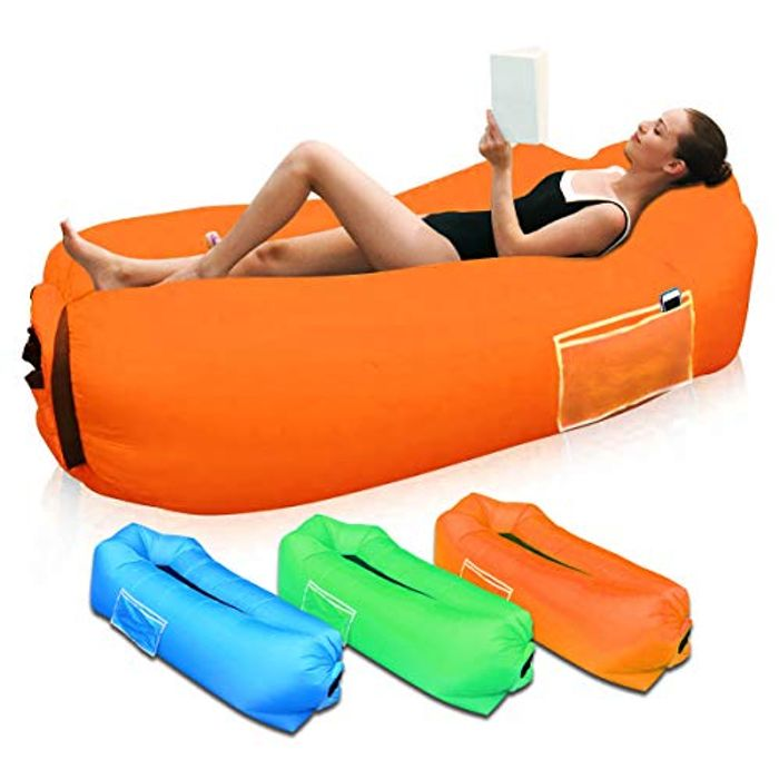 Inflatable Lounger, Waterproof Lazy Lounger