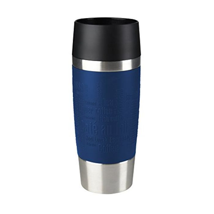SAVE £9 TODAY - Tefal Travel Mug, Stainless Steel, Blue, 0.36 L
