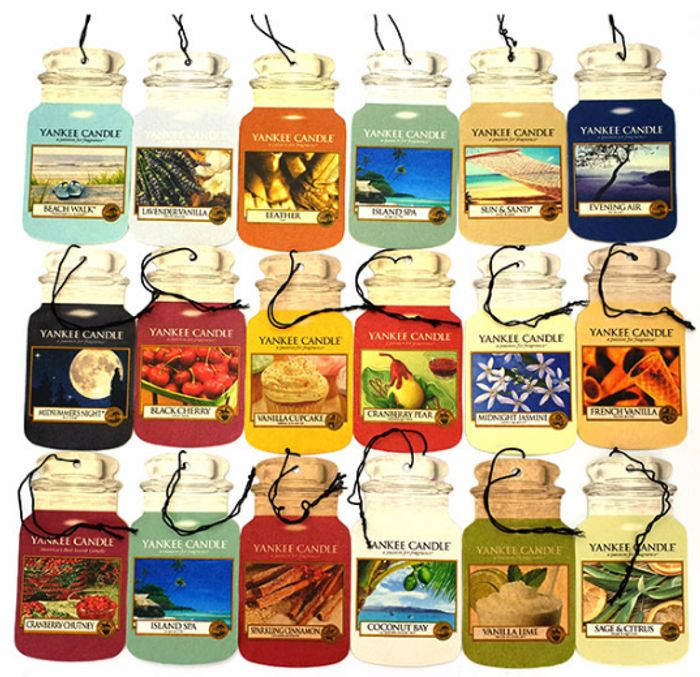 9 Yankee Candle Classic Car Air Jar Fresheners Only £10