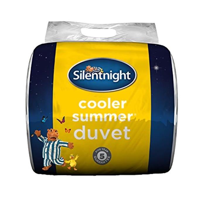 DOUBLE CHEAPER THAN SINGLE! Silentnight Cooler Summer 4.5 Tog Duvet