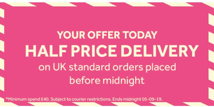 STOCK UP NOW! HALF PRICE DELIVERY TODAY AT POUNDSHOP UNTIL MIDNIGHT!