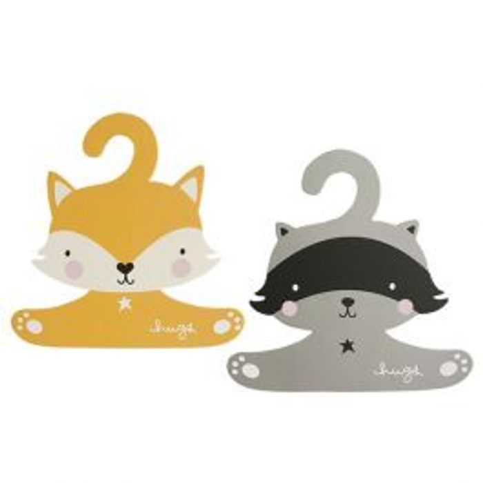 Really Unusual Raccoon and Fox COAT HANGER SET for BABY *SO CUTE!