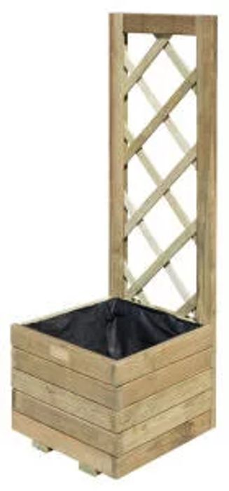 Rowlinson Timber Planter with Trellis