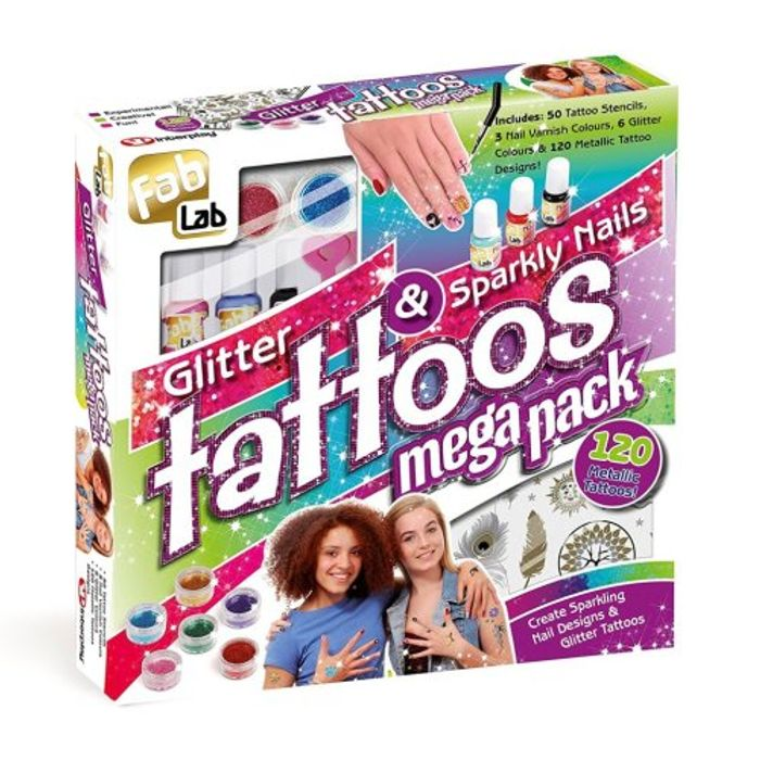 FabLab Glitter Tattoos & Sparkly Nails Mega Pack
