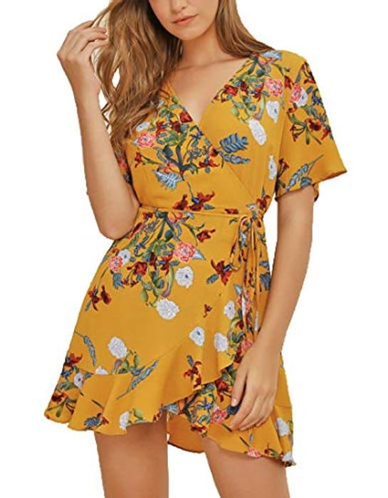 Floral Print v Neck Dress £4.20 Delivered