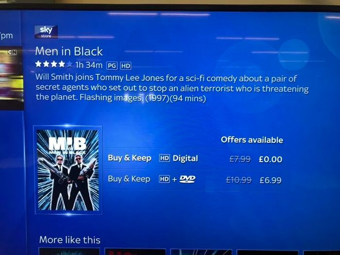 Free Men in Black (1997) Digital Movie in Sky Store