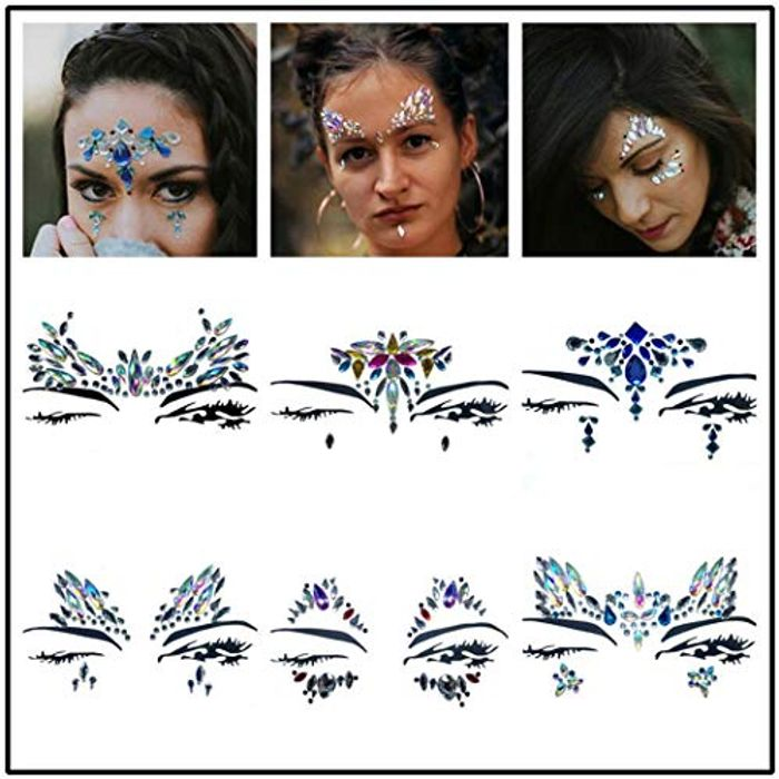 Face Gems Glitter,Rhinestone Rave Festival Face Jewels