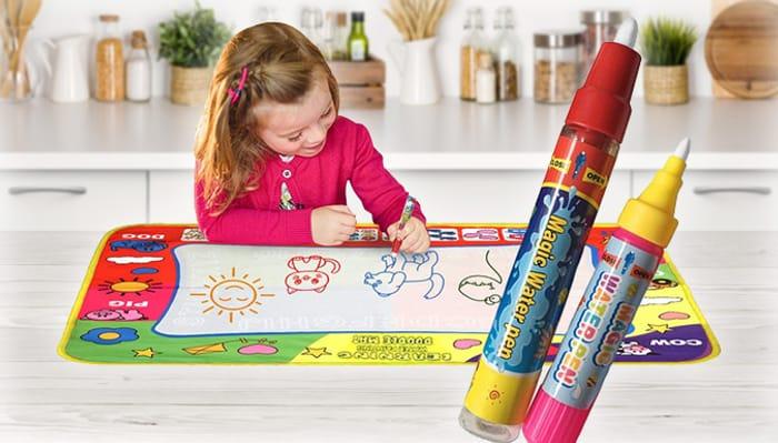 Children's Magic Doodle Mat with 2 X Pens