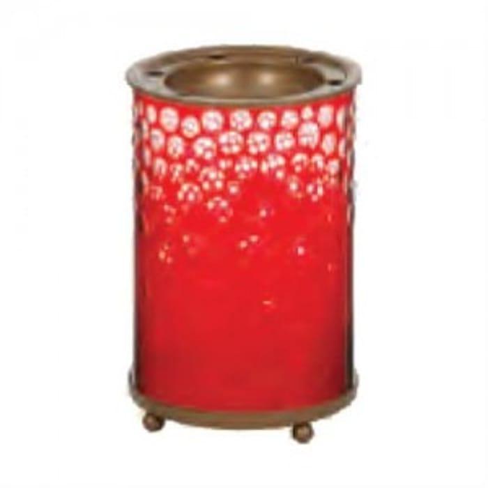 Yankee Candle Red and Gold Snowfall Wax Burner