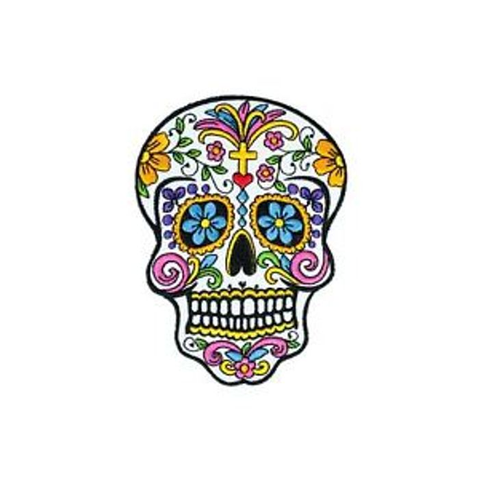 Sugar Skull Iron on Patch Was £3 Now £1.50 plus BOGOHP