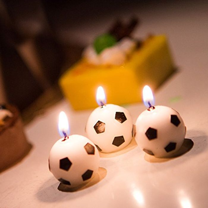 3pc Football Tealights