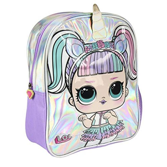 Holographic LOL Surprise Backpack 32 Cm