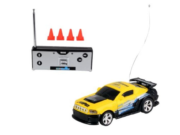 Mini Remote Control RC Car with Lights + Cones