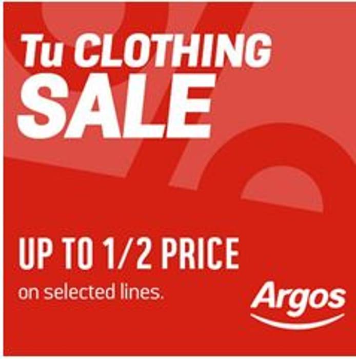 Tu Clothing Sale at ARGOS
