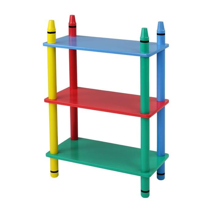 Home Scape Kids Crayon 3-Tier Shelf Unit