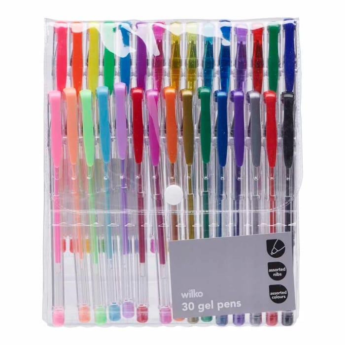 1/2 Price Wilko Gel Pens 30 Pack